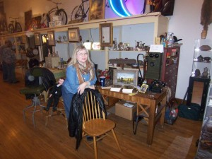 Shelly at Iron Horse Antiques book signing