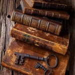 Antique books & keys